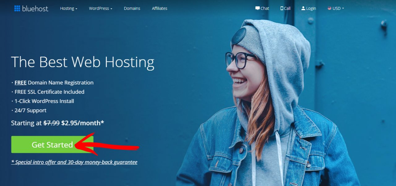 bluehost screenshot 1
