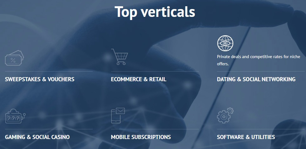 clickdealer vertical markets