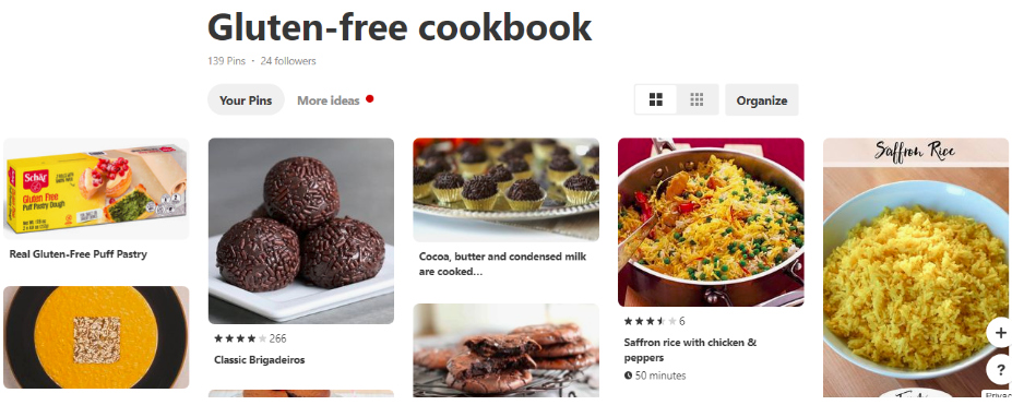 Pinterest Gluten-Free Cookbook image