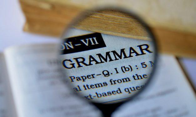 Why Good Grammar is Vital