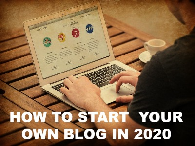 how to start a blog 2020 laptop image